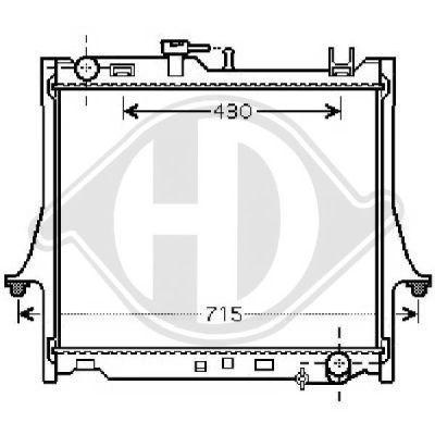 Radiateur, refroidissement du moteur - Diederichs Germany - 8540281