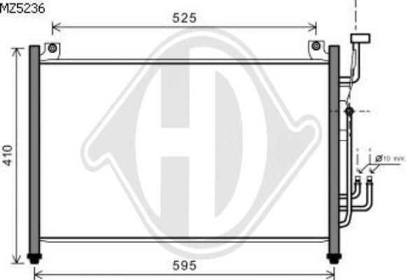 Condenseur, climatisation - Diederichs Germany - 8560500