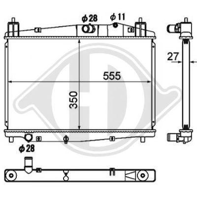 Radiateur, refroidissement du moteur - Diederichs Germany - 8560501