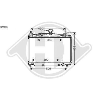 Radiateur, refroidissement du moteur - Diederichs Germany - 8560502