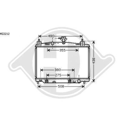 Radiateur, refroidissement du moteur - Diederichs Germany - 8560503