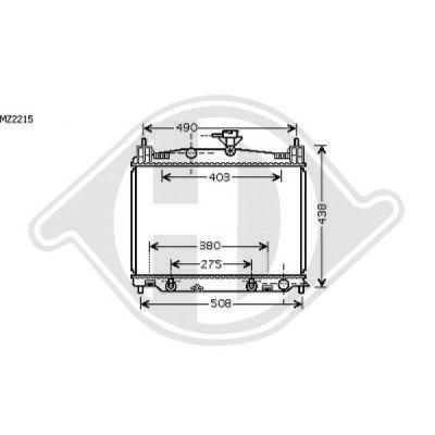 Radiateur, refroidissement du moteur - Diederichs Germany - 8560504