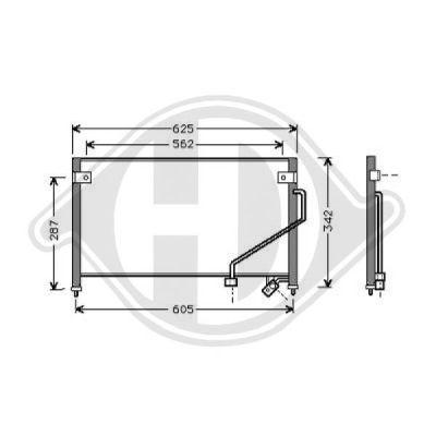 Condenseur, climatisation - Diederichs Germany - 8561600