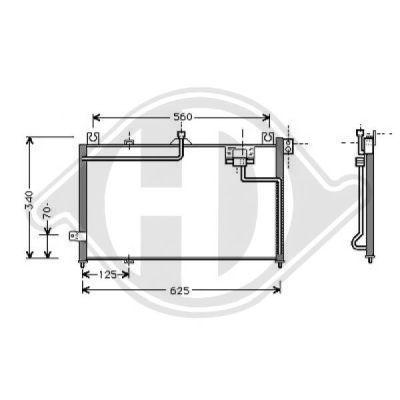 Condenseur, climatisation - Diederichs Germany - 8561601