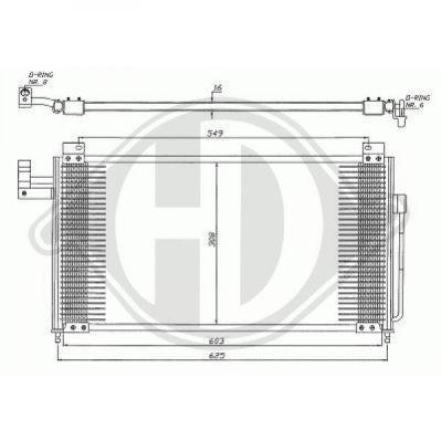 Condenseur, climatisation - Diederichs Germany - 8561700
