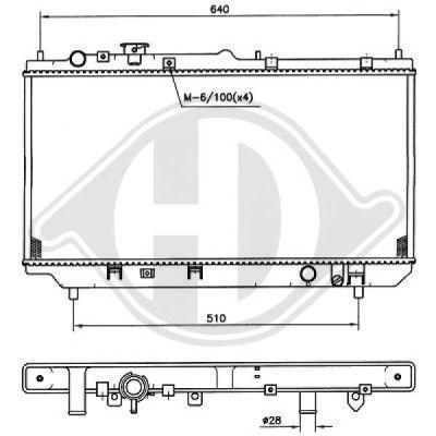 Radiateur, refroidissement du moteur - Diederichs Germany - 8561701