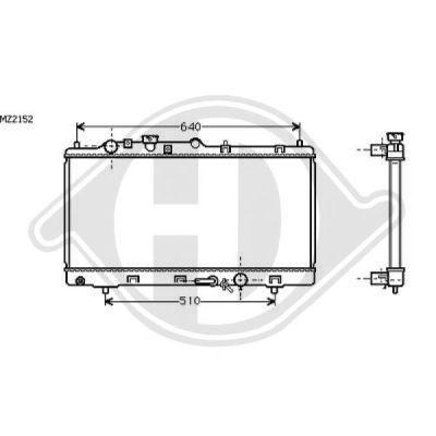 Radiateur, refroidissement du moteur - Diederichs Germany - 8561703
