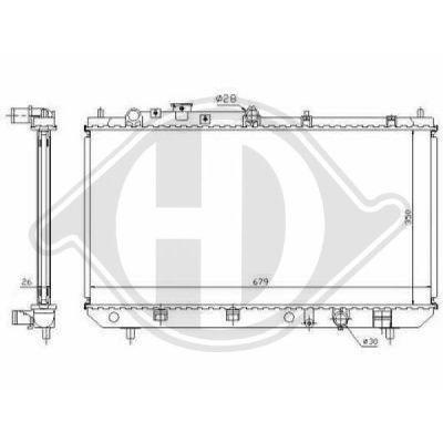 Radiateur, refroidissement du moteur - HDK-Germany - 77HDK8561704