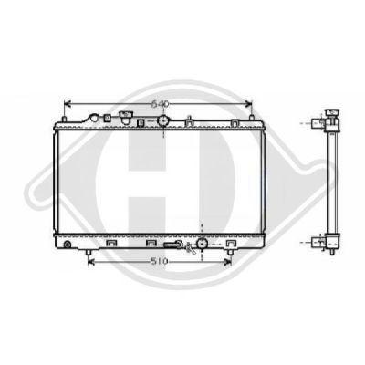 Radiateur, refroidissement du moteur - Diederichs Germany - 8561705