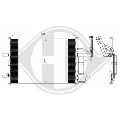 Condenseur, climatisation - Diederichs Germany - 8561801