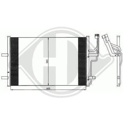 Condenseur, climatisation - Diederichs Germany - 8561802