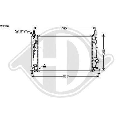 Radiateur, refroidissement du moteur - HDK-Germany - 77HDK8561905