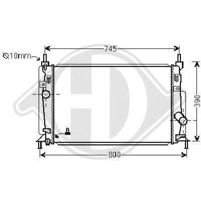 Radiateur, refroidissement du moteur - HDK-Germany - 77HDK8561906