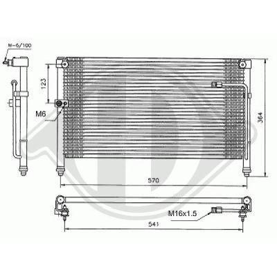 Condenseur, climatisation - Diederichs Germany - 8562300