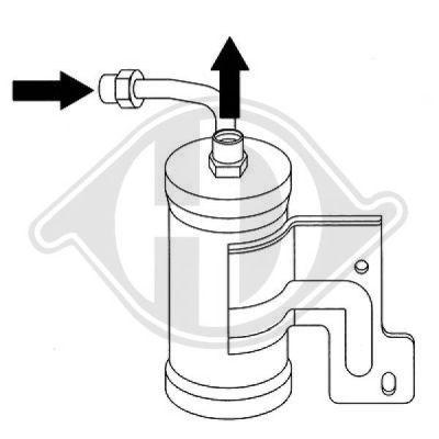 Filtre déshydratant, climatisation - Diederichs Germany - 8562302