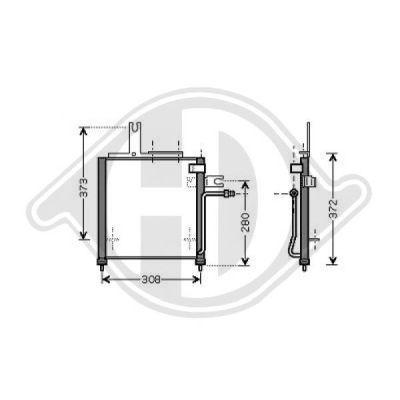 Condenseur, climatisation - Diederichs Germany - 8562500
