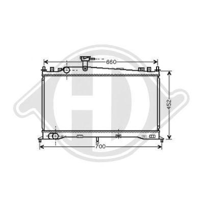 Radiateur, refroidissement du moteur - HDK-Germany - 77HDK8562501
