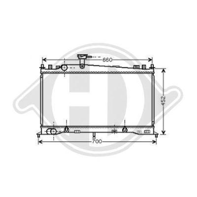 Radiateur, refroidissement du moteur - Diederichs Germany - 8562502