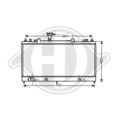 Radiateur, refroidissement du moteur - Diederichs Germany - 8562504