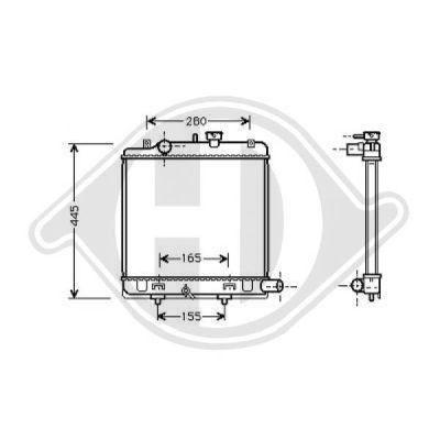 Radiateur, refroidissement du moteur - Diederichs Germany - 8562505