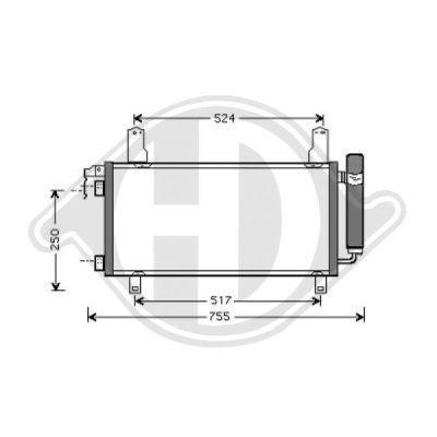 Condenseur, climatisation - Diederichs Germany - 8562510