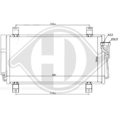 Condenseur, climatisation - HDK-Germany - 77HDK8562600