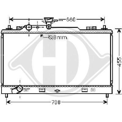 Radiateur, refroidissement du moteur - Diederichs Germany - 8562602