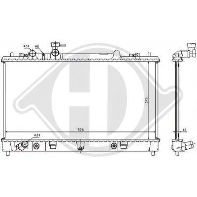 Radiateur, refroidissement du moteur - Diederichs Germany - 8562603