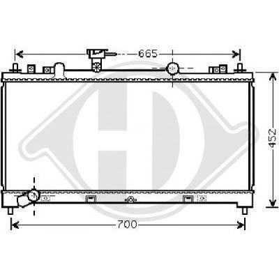 Radiateur, refroidissement du moteur - Diederichs Germany - 8562604