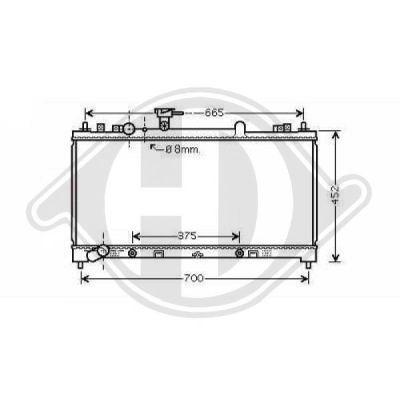 Radiateur, refroidissement du moteur - HDK-Germany - 77HDK8562606
