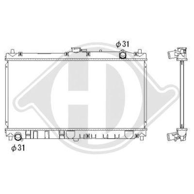 Radiateur, refroidissement du moteur - HDK-Germany - 77HDK8565105