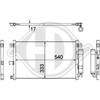 Condenseur, climatisation - Diederichs Germany - 8565200