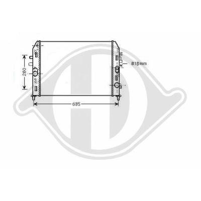 Radiateur, refroidissement du moteur - HDK-Germany - 77HDK8565203