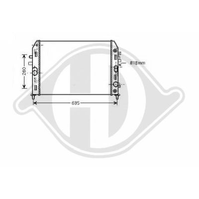 Radiateur, refroidissement du moteur - Diederichs Germany - 8565204