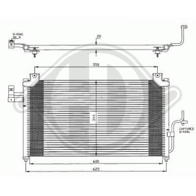 Condenseur, climatisation - Diederichs Germany - 8568000