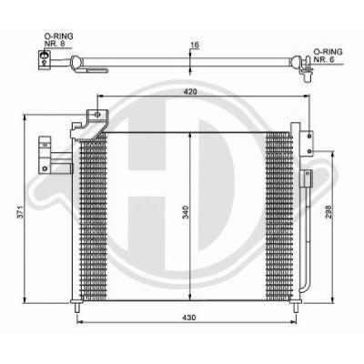 Condenseur, climatisation - Diederichs Germany - 8568001