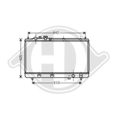 Radiateur, refroidissement du moteur - Diederichs Germany - 8568005