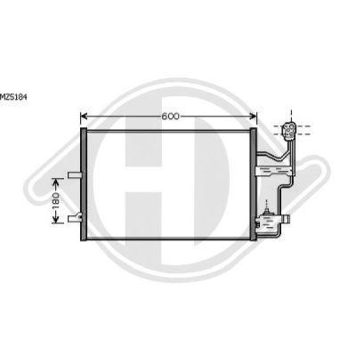 Condenseur, climatisation - Diederichs Germany - 8568109