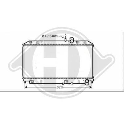 Radiateur, refroidissement du moteur - Diederichs Germany - 8568501