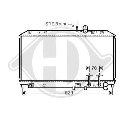 Radiateur, refroidissement du moteur - Diederichs Germany - 8568502