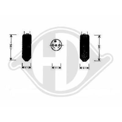 Filtre déshydratant, climatisation - Diederichs Germany - 8580522