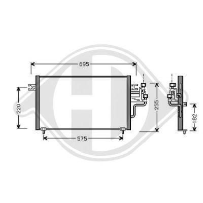 Condenseur, climatisation - Diederichs Germany - 8580620