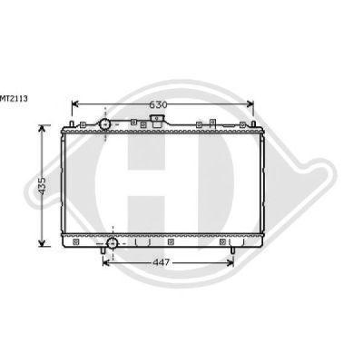 Radiateur, refroidissement du moteur - Diederichs Germany - 8580621