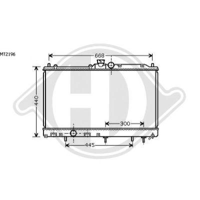 Radiateur, refroidissement du moteur - HDK-Germany - 77HDK8580623