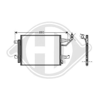 Condenseur, climatisation - Diederichs Germany - 8580700