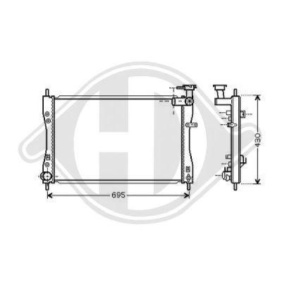 Radiateur, refroidissement du moteur - Diederichs Germany - 8580703