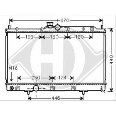 Radiateur, refroidissement du moteur - Diederichs Germany - 8580705