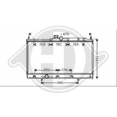 Radiateur, refroidissement du moteur - Diederichs Germany - 8580706