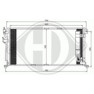 Condenseur, climatisation - Diederichs Germany - 8580710