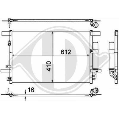 Condenseur, climatisation - Diederichs Germany - 8580800